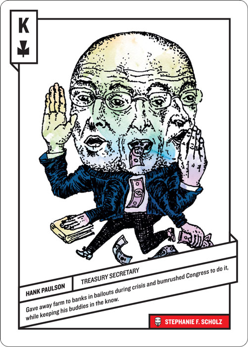 King of Clubs, Hank Paulson by Stephanie Scholz