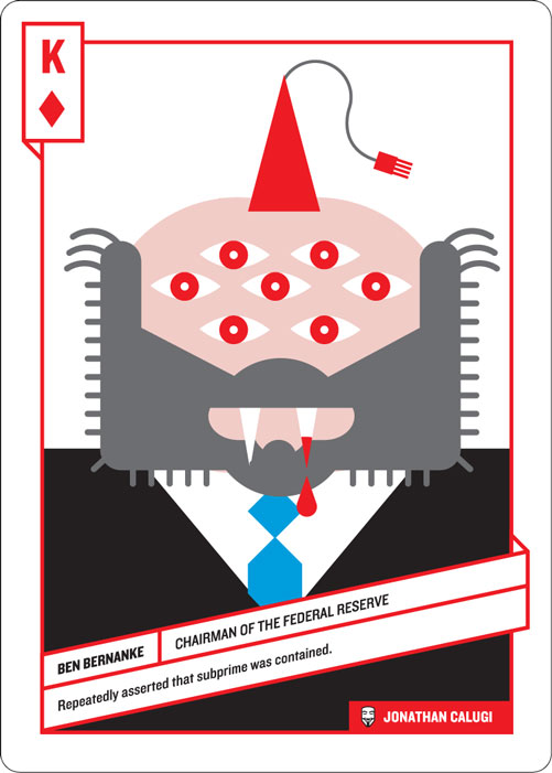 King of Diamonds, Ben Bernanke by Jonathan Calugi