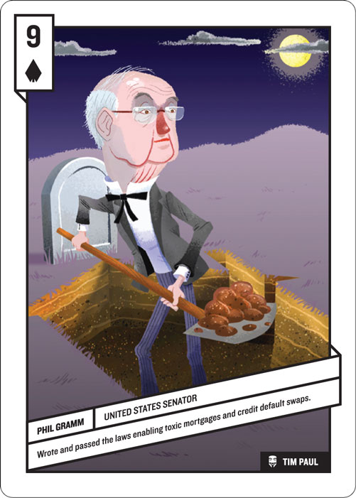 9 of Spades, Phil Gramm by Tim Paul