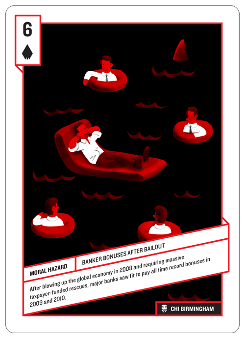 6 of Spades, Banker Bailouts, by Chi Birmingham