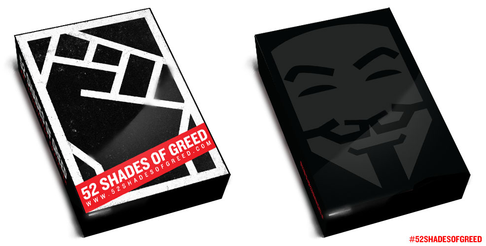 52 Shades of Greed, custom deck
